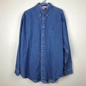 Vintage Tommy Hilfiger Button Down Jean Shirt